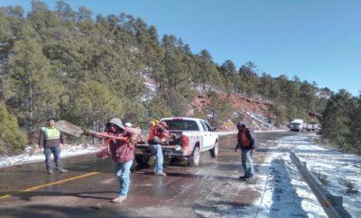 Supervisión en carreteras tras nevadas